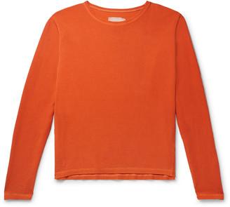 Greg Lauren Waffle-Knit Cotton-Blend Jersey T-Shirt