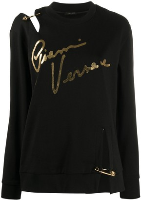 Versace deconstructed Gianni print sweatshirt