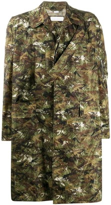 Random Identities Camouflage-Print Single-Breasted Coat