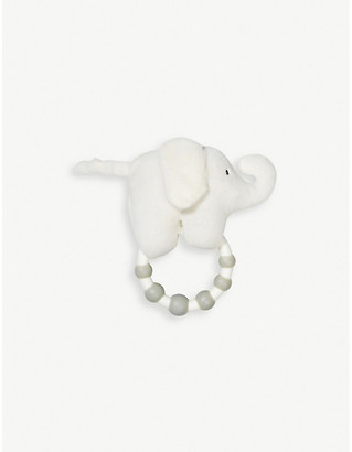 Selfridges The Little White Company Indy elephant rattle