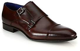 Saks Fifth Avenue Double Monk-Strap Leather Shoes