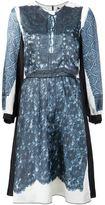 Marc Jacobs trompe-l'œil lace print dress - women - Silk/Polyester - 6