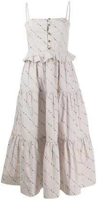 Ganni printed poplin dress