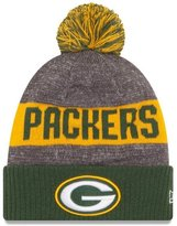 New Era NFL Sideline Bobble Beanie One Size Green Bay Packers