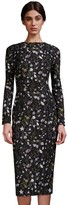Cynthia Rowley Prairie Floral Fitted Long Sleeve Midi Dress