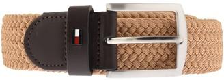 Tommy Hilfiger Denton Elastic Logo Belt Beige