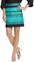 LOFT Dobby Stripe Shift Skirt