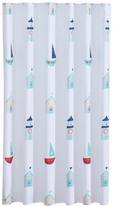 Aqualona Beach Hut Soft PEVA Shower Curtain