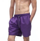 Threelove Mens Swim Trunks Quick Dry Casual Beach Shorts With Mesh Lining for Surfing Running Swimming Watershort L