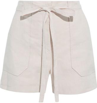 Iris & Ink Jacqueline Belted Linen Shorts