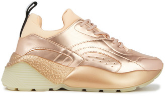 Stella McCartney Eclypse Neoprene And Faux Mirrored-leather Sneakers