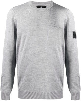 Stone Island Shadow Project Logo Patch Rib-Trimmed Jumper