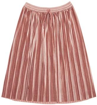 Molo Pleated Stretch Satin Skirt