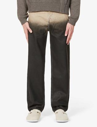 Jacquemus Dip-dye straight organic-denim jeans