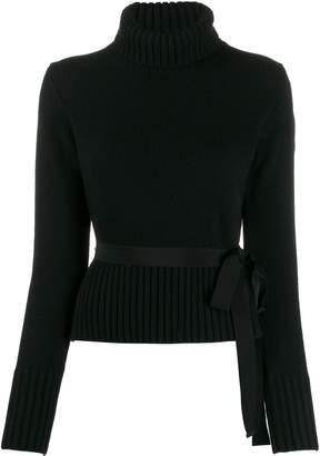 Moncler tie waist roll neck jumper