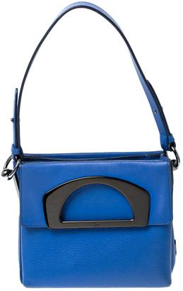 Christian Louboutin Blue Leather Mini Passage Top Handle Bag