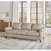 """Thumbnail for your product : Winston Porter Josette 86"""" Genuine Leather Rolled Arm Sofa"""