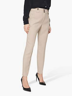 Damsel in a Dress Ebony Tapered Tailored Suit Trousers, Neutral