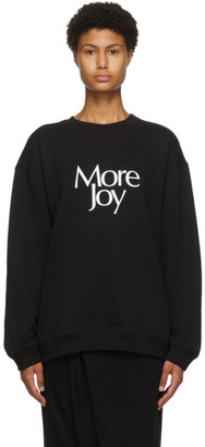 More Joy Black Logo Sweatshirt