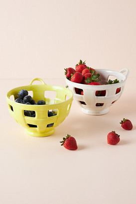 Anthropologie Joan Berry Basket By in White