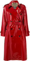 Burberry patent trench coat