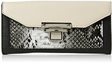 New Look Womens Snake Panelled Chunky Purse Black Pattern