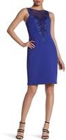 Sue Wong Sleeveless Embellished Dress