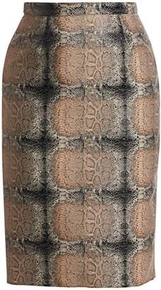 Marina Rinaldi, Plus Size Casanova Python Jacquard Pencil Skirt