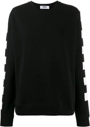 MSGM checkered flag print sweatshirt
