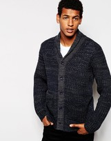 French Connection Button Through Twist Chunky Cardigan - Grey