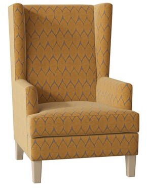 Hekman Jamison Wingback Chair Body Fabric: 5626-232, Leg Color: Antique Vanilla, Seat Cushion Fill: Extra Firm