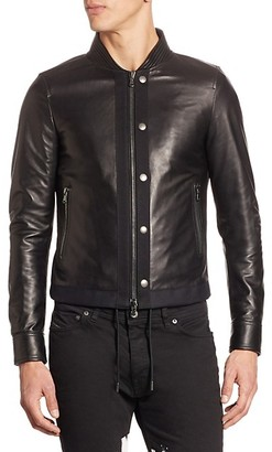 Diesel Lasy Mixed-Media Leather Jacket