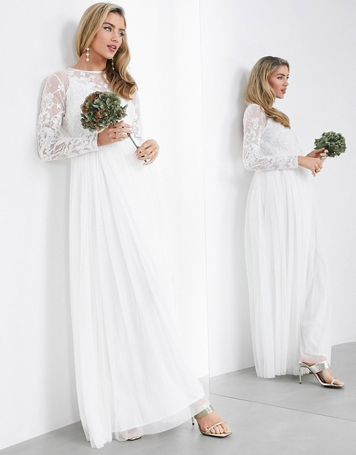 ASOS EDITION embroidered bodice maxi wedding dress