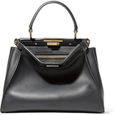 Fendi Peekaboo Medium Leather Tote - Black