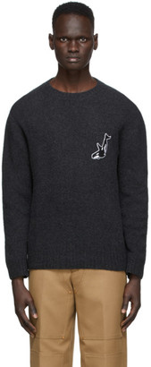 Schnaydermans Grey Wool and Cashmere Seamless Whale Sweater