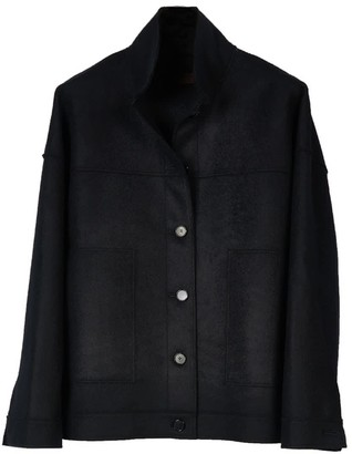 Oyuna Cali Woven Unisex Cashmere Jacket In Black