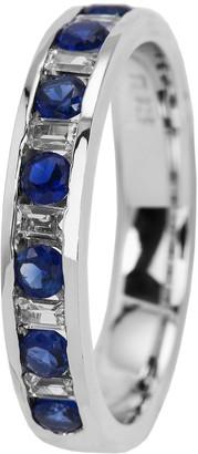 Burgmeister Jewelry Women's Ring 925 Sterling Silver Rhodium-Plated Cubic Zirconia JBM 2015111 Blue