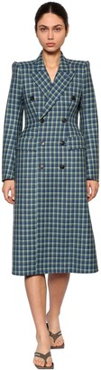 Balenciaga 3d Wool Tweed Coat