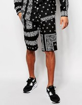 HUF Shorts With All Over Bandana Print