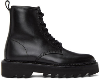 Ami Alexandre Mattiussi Black Lace-Up Ankle Boots