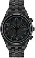 Citizen Men's Eco-Drive Chronograph Black Stainless Steel Bracelet Watch 42mm CA0625-55E