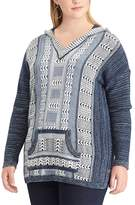 Chaps Plus Size Marled Hooded Sweater