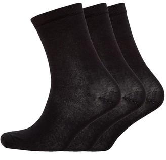 S.O.H.O New York Womens Collection Three Pack Organic Socks Black