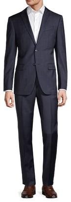 John Varvatos Standard-Fit Windowpane Wool Suit