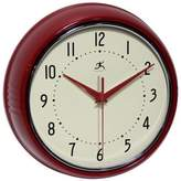 Infinity Instruments Retro Metal Wall Clock in Red
