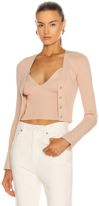 Jonathan Simkhai Kaley Cardigan in Blush | FWRD