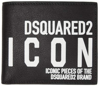 DSQUARED2 Black Leather Man Wallet