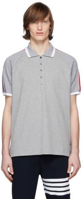Thom Browne Grey Raglan Sleeve Polo