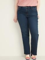 Old Navy High-Waisted Secret-Slim Pockets Kicker Boot-Cut Plus-Size Jeans