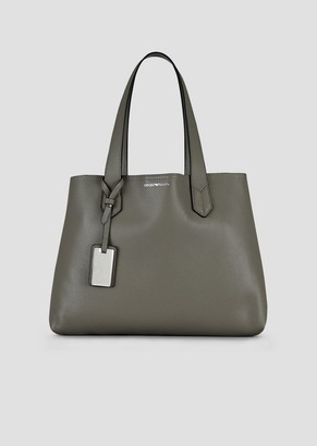 Emporio Armani Shopping Bag With Internal Clutch And Charm